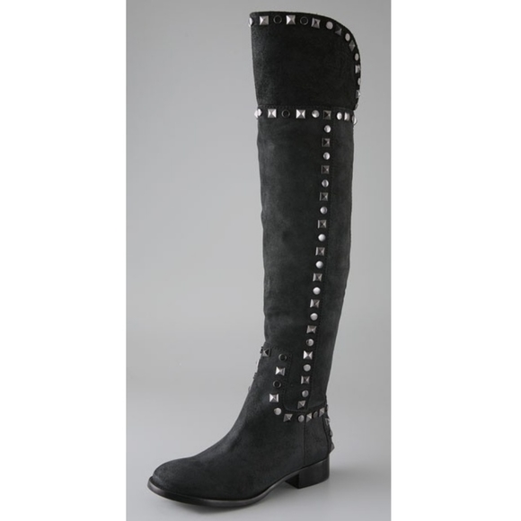 Tory Burch Rhett Over the Knee suede studded boots